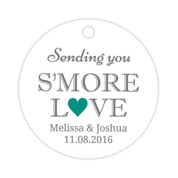 S'more love tags - Teal - Dazzling Daisies