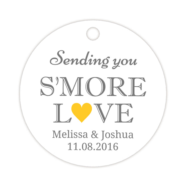 S'more love tags - Yellow - Dazzling Daisies