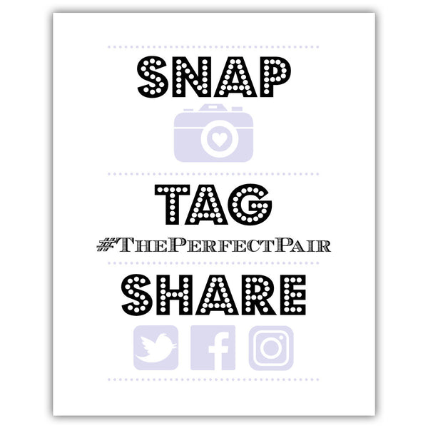 "Social media sign 'Big and Bold' - 5x7"" / Lavender - Dazzling Daisies"