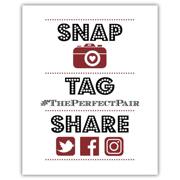"Social media sign 'Big and Bold' - 5x7"" / Maroon - Dazzling Daisies"