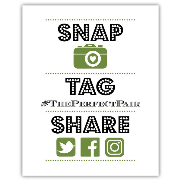 "Social media sign 'Big and Bold' - 5x7"" / Olive - Dazzling Daisies"