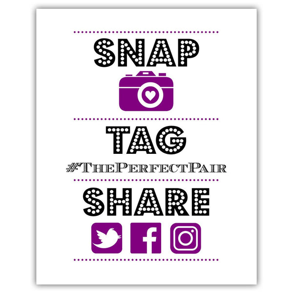 "Social media sign 'Big and Bold' - 5x7"" / Purple - Dazzling Daisies"