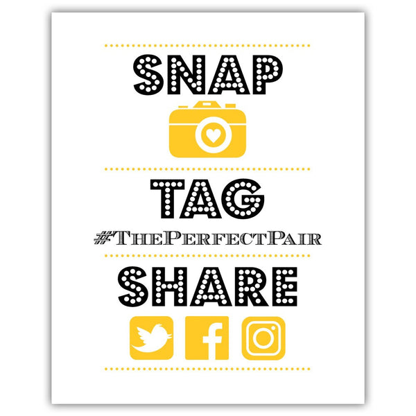 "Social media sign 'Big and Bold' - 5x7"" / Yellow - Dazzling Daisies"