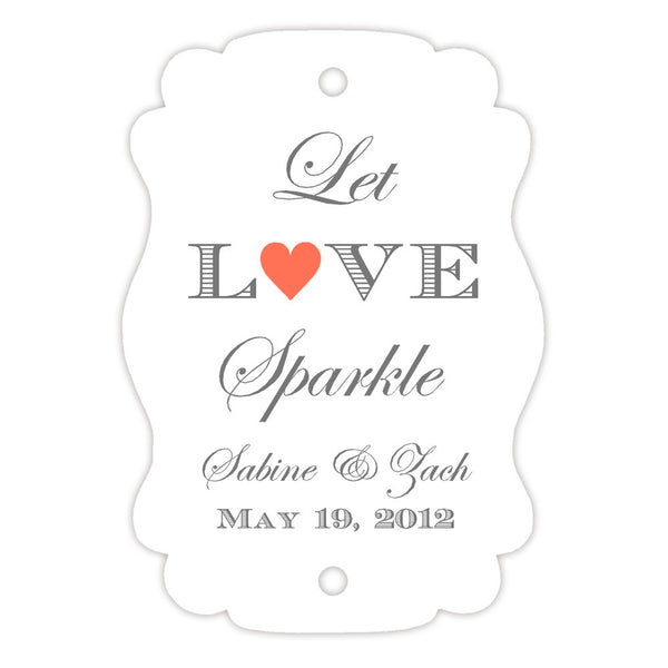 Sparkler tags - Coral - Dazzling Daisies