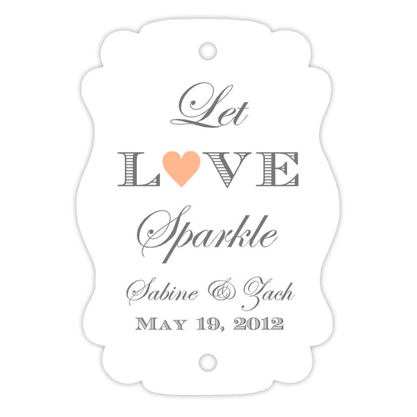 Sparkler tags - Peach - Dazzling Daisies