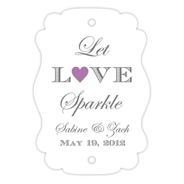 Sparkler tags - Plum - Dazzling Daisies