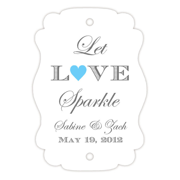 Sparkler tags - Sky blue - Dazzling Daisies