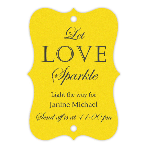 Sparkler tags - Yellow - Dazzling Daisies