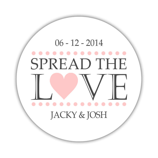 Spread the love stickers - 1.5 circle = 30 labels per sheet / Blush - Dazzling Daisies