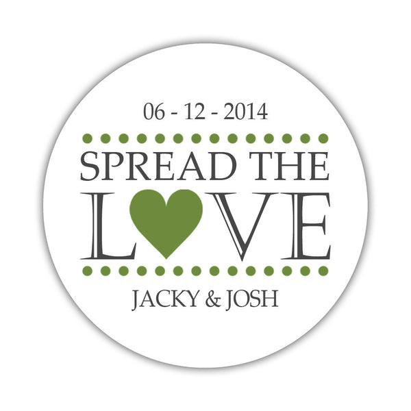 Spread the love stickers - 1.5 circle = 30 labels per sheet / Olive - Dazzling Daisies