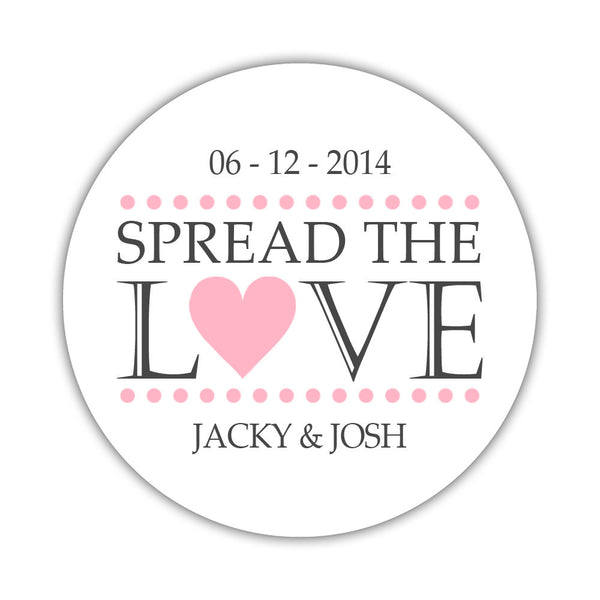 Spread the love stickers - 1.5 circle = 30 labels per sheet / Pink - Dazzling Daisies