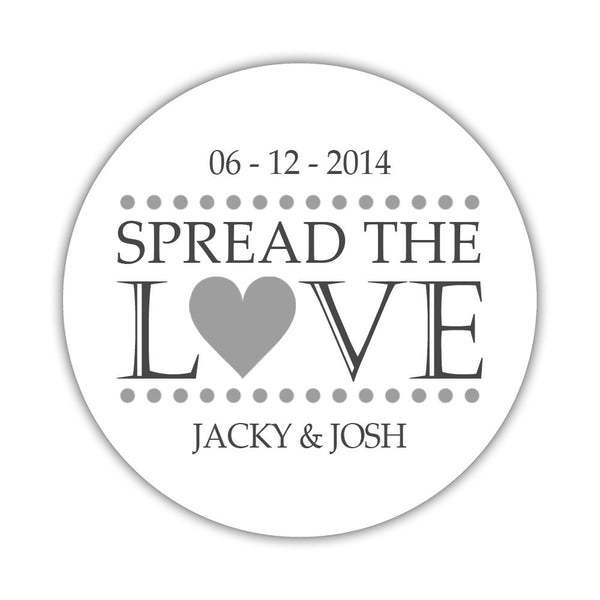 Spread the love stickers - 1.5 circle = 30 labels per sheet / Silver - Dazzling Daisies