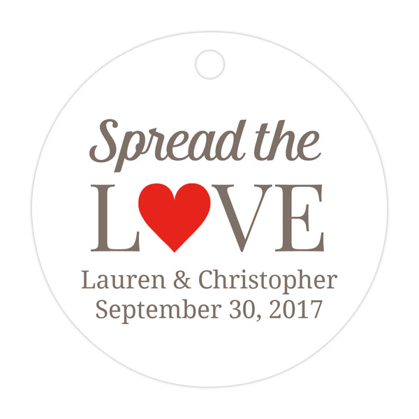 Spread the love tags - Red - Dazzling Daisies