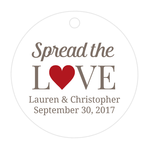 Spread the love tags - Indian red - Dazzling Daisies