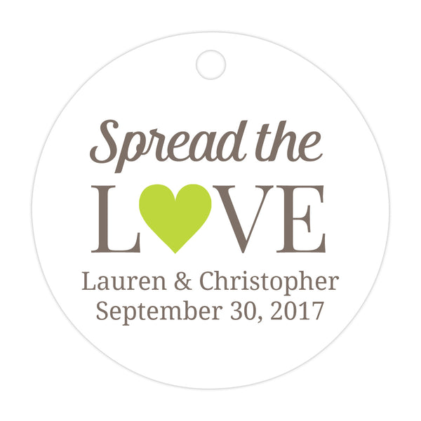 Spread the love tags - Lime - Dazzling Daisies