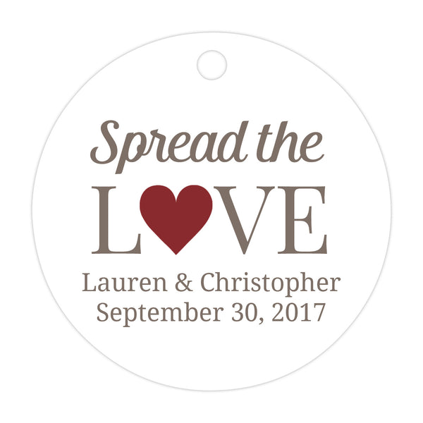 Spread the love tags - Maroon - Dazzling Daisies