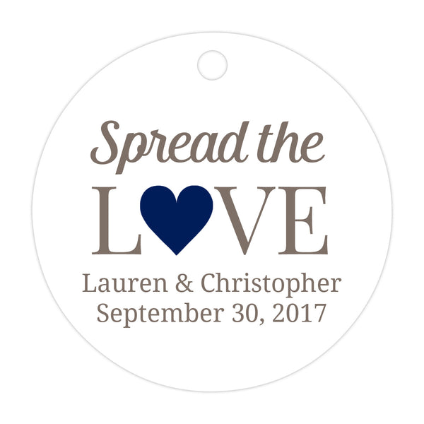 Spread the love tags - Navy - Dazzling Daisies