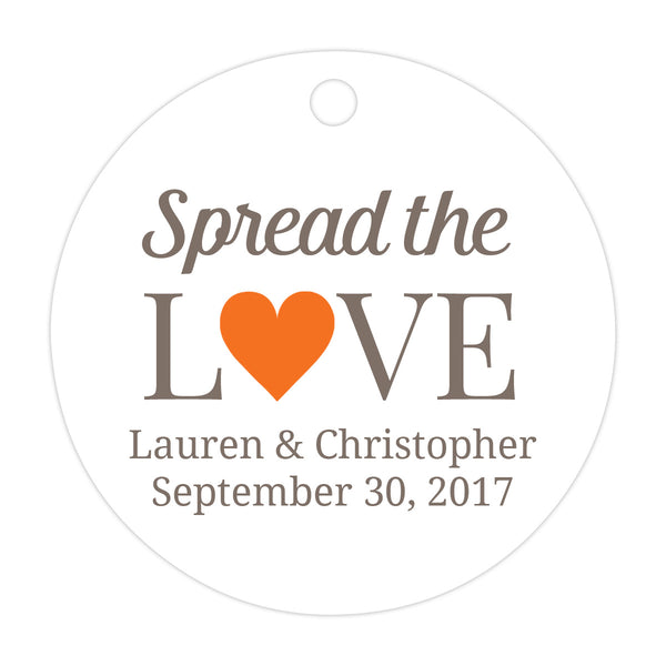Spread the love tags - Orange - Dazzling Daisies