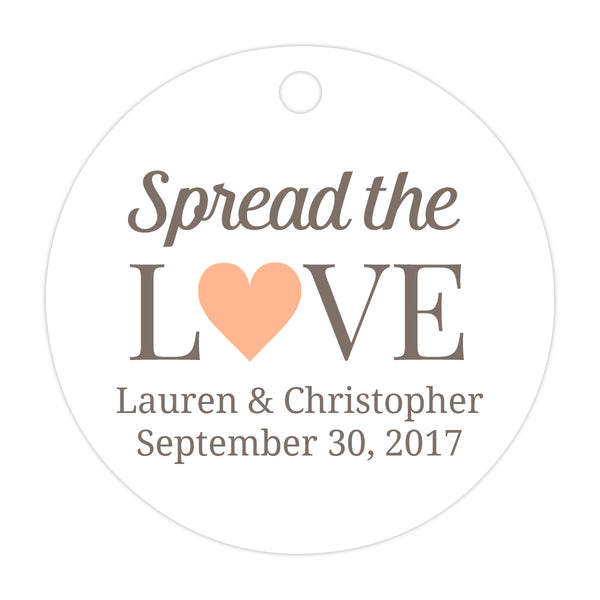 Spread the love tags - Peach - Dazzling Daisies