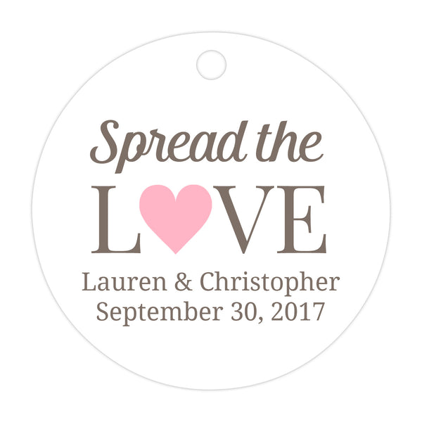 Spread the love tags - Pink - Dazzling Daisies