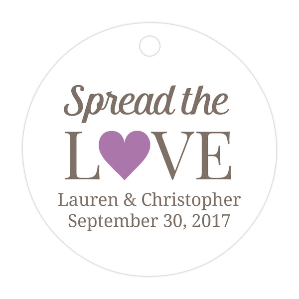 Spread the love tags - Plum - Dazzling Daisies