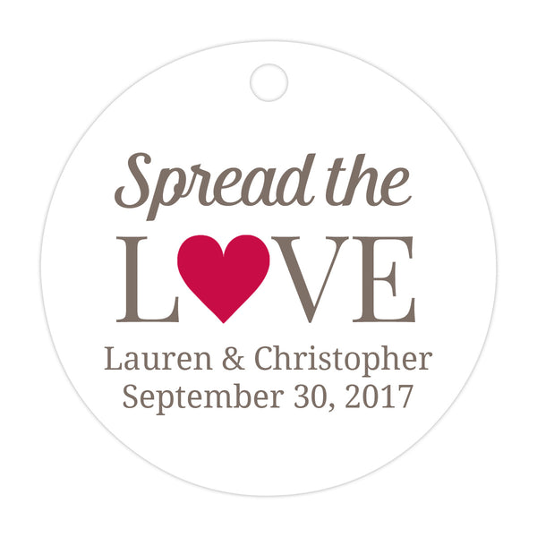 Spread the love tags - Raspberry - Dazzling Daisies