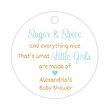 Sugar and spice tags - Gold/Aquamarine - Dazzling Daisies