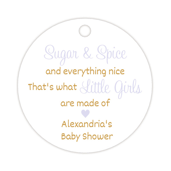 Sugar and spice tags - Gold/Lavender - Dazzling Daisies