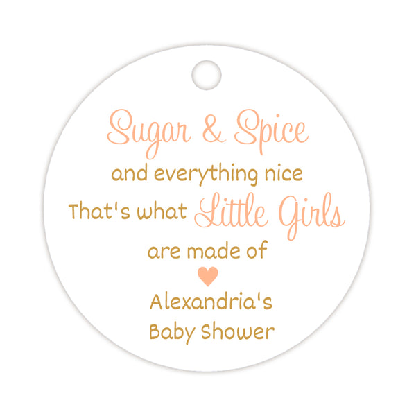 Sugar and spice tags - Gold/Peach - Dazzling Daisies