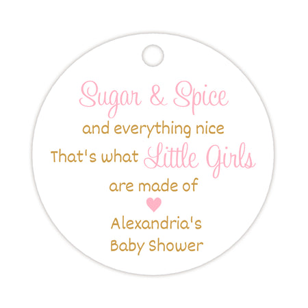 Baby shower champagne bottle tags