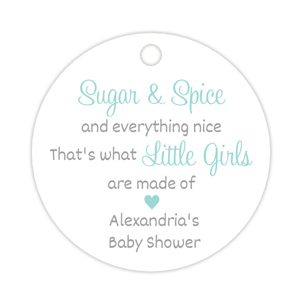 Sugar and spice tags - Silver/Aquamarine - Dazzling Daisies