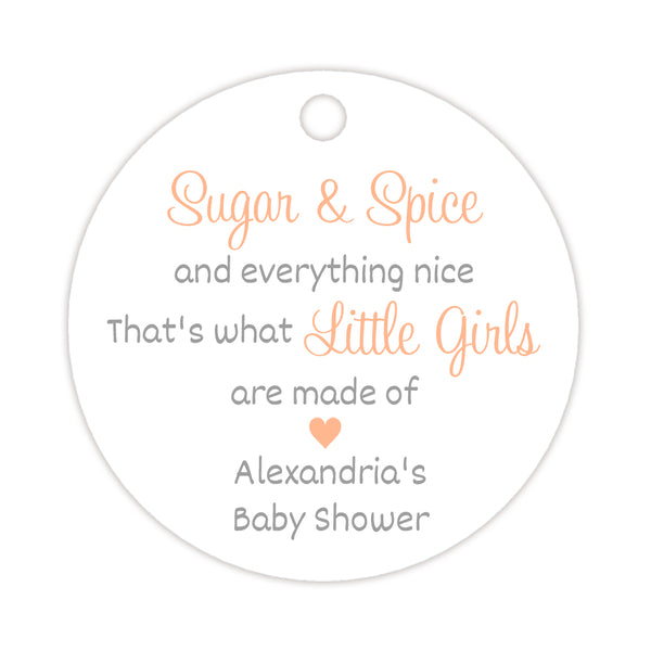 Sugar and spice tags - Silver/Peach - Dazzling Daisies
