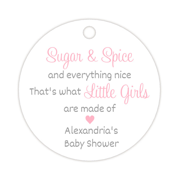 Sugar and spice tags - Silver/Pink - Dazzling Daisies
