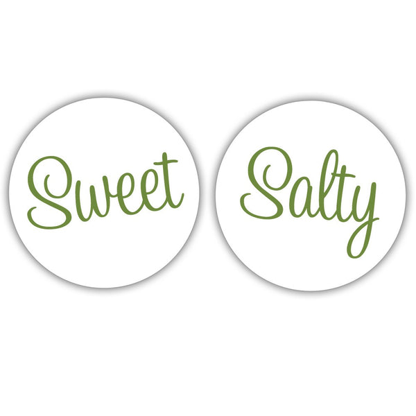 "Sweet and salty stickers - 1.5"" circle = 30 labels per sheet / Olive - Dazzling Daisies"