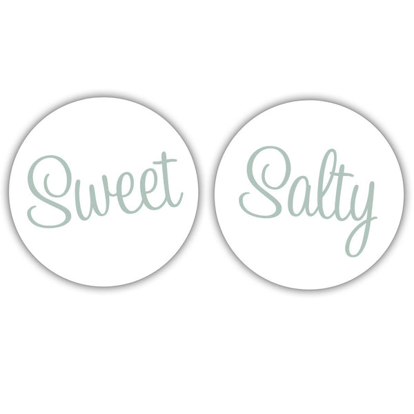 "Sweet and salty stickers - 1.5"" circle = 30 labels per sheet / Sage - Dazzling Daisies"