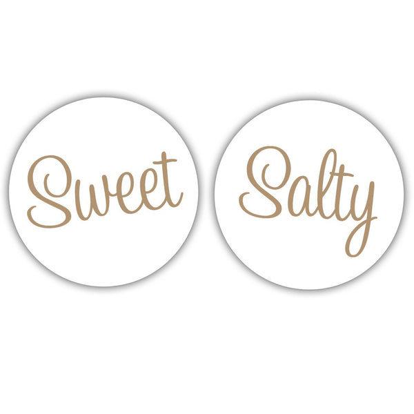 "Sweet and salty stickers - 1.5"" circle = 30 labels per sheet / Sand - Dazzling Daisies"