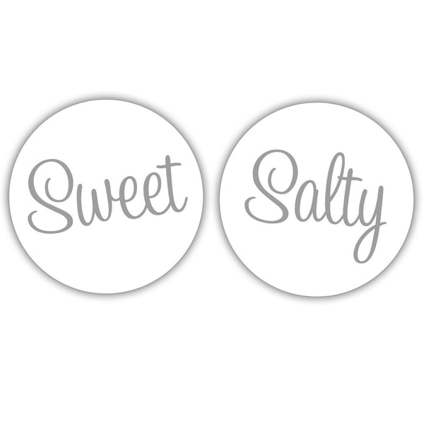 "Sweet and salty stickers - 1.5"" circle = 30 labels per sheet / Silver - Dazzling Daisies"