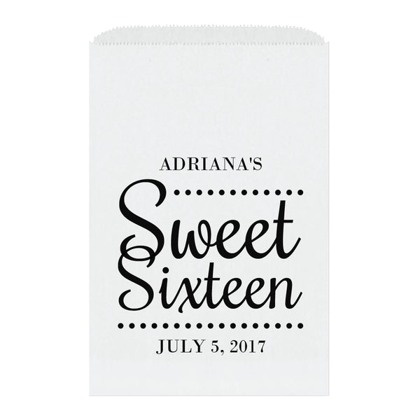 Sweet sixteen candy bags 'Ultimate Elegance' - Black - Dazzling Daisies