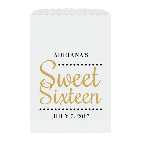 Sweet sixteen candy bags 'Ultimate Elegance' - Gold - Dazzling Daisies