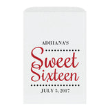 Sweet sixteen candy bags 'Ultimate Elegance' - Indian red - Dazzling Daisies