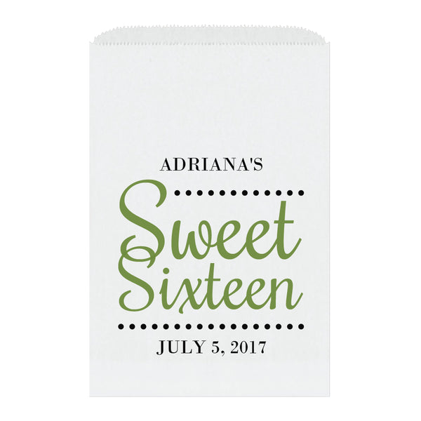 Sweet sixteen candy bags 'Ultimate Elegance' - Olive - Dazzling Daisies