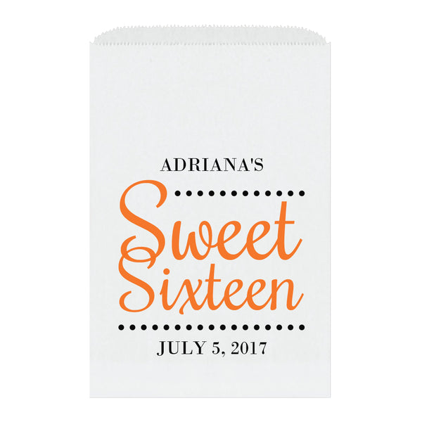 Sweet sixteen candy bags 'Ultimate Elegance' - Orange - Dazzling Daisies