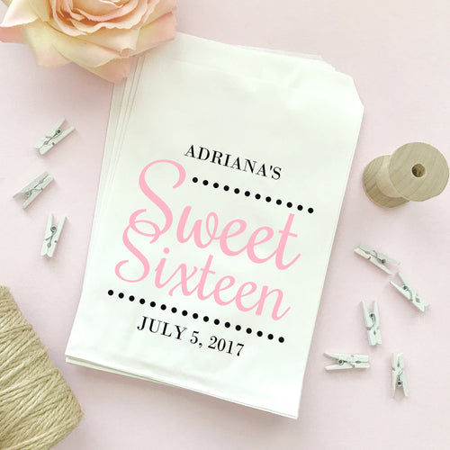 Sweet sixteen candy bags 'Ultimate Elegance' -  - Dazzling Daisies