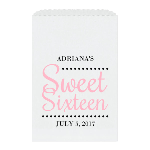 Sweet sixteen candy bags 'Ultimate Elegance' - Pink - Dazzling Daisies