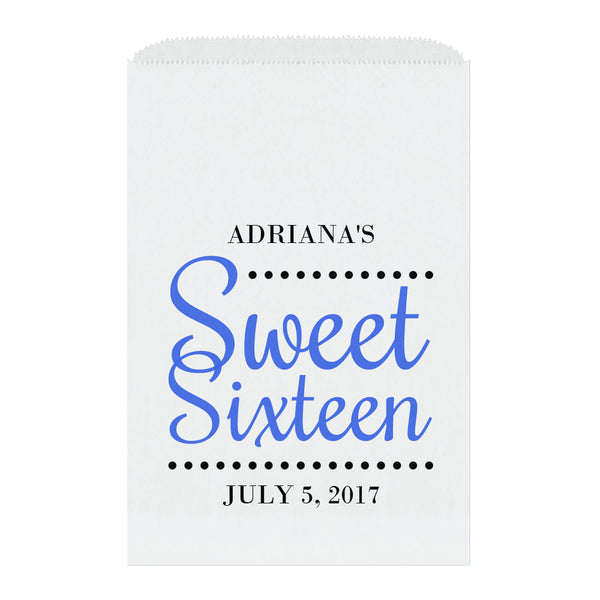Sweet sixteen candy bags 'Ultimate Elegance' - Royal blue - Dazzling Daisies