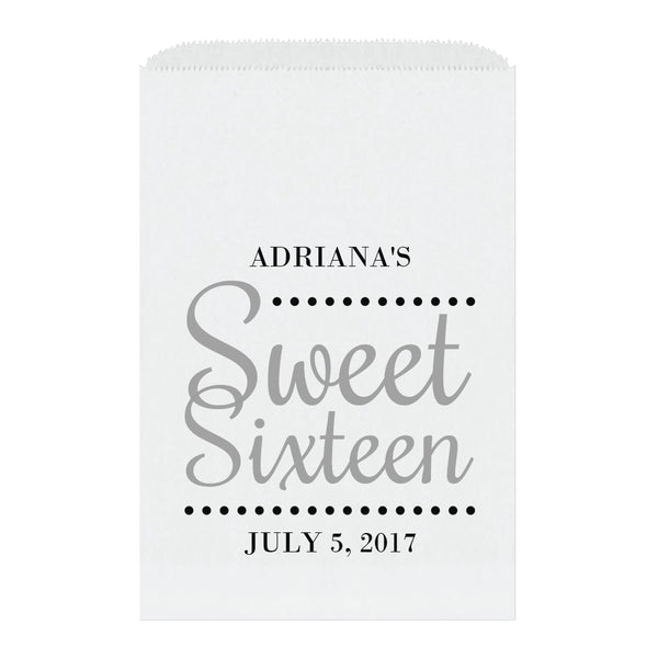 Sweet sixteen candy bags 'Ultimate Elegance' - Silver - Dazzling Daisies