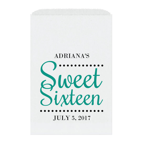 Sweet sixteen candy bags 'Ultimate Elegance' - Teal - Dazzling Daisies