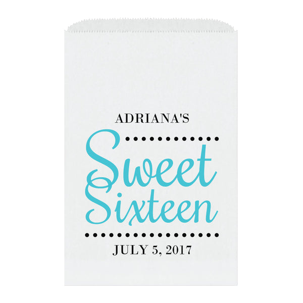 Sweet sixteen candy bags 'Ultimate Elegance' - Turquoise - Dazzling Daisies