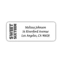 Sweet 16 address labels - Black - Dazzling Daisies