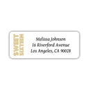 Sweet 16 address labels - Gold - Dazzling Daisies